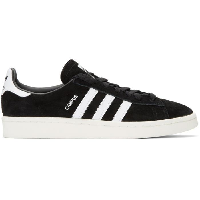 adidas Originals Black Suede Campus Sneakers