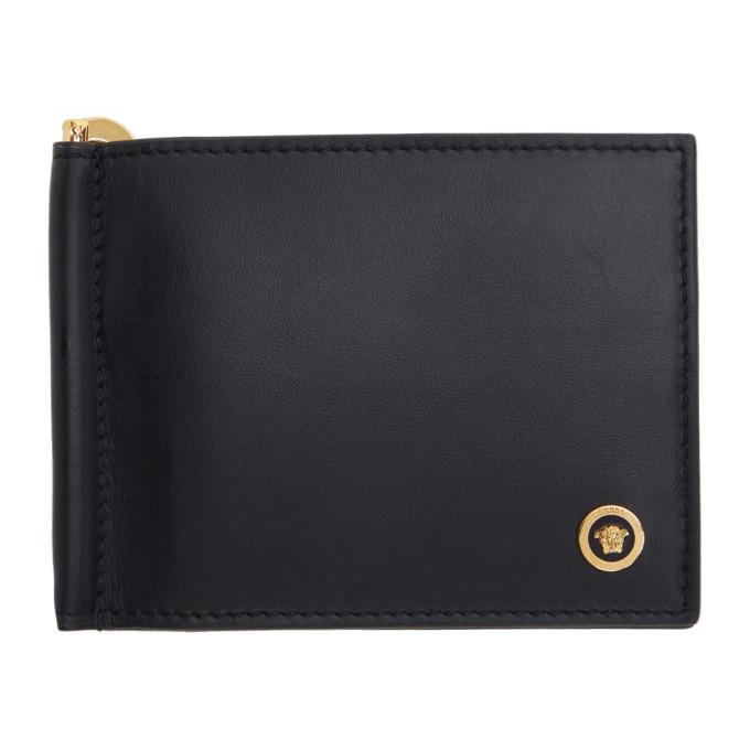Photo: Versace Black Medusa Clip Bifold Wallet