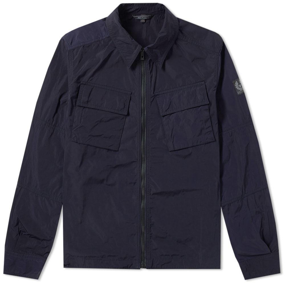 Belstaff Talbrook Zip Shirt Jacket Blue