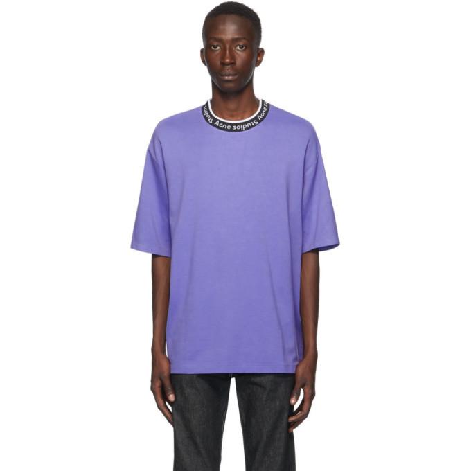 Photo: Acne Studios Purple Jacquard Logo T-Shirt