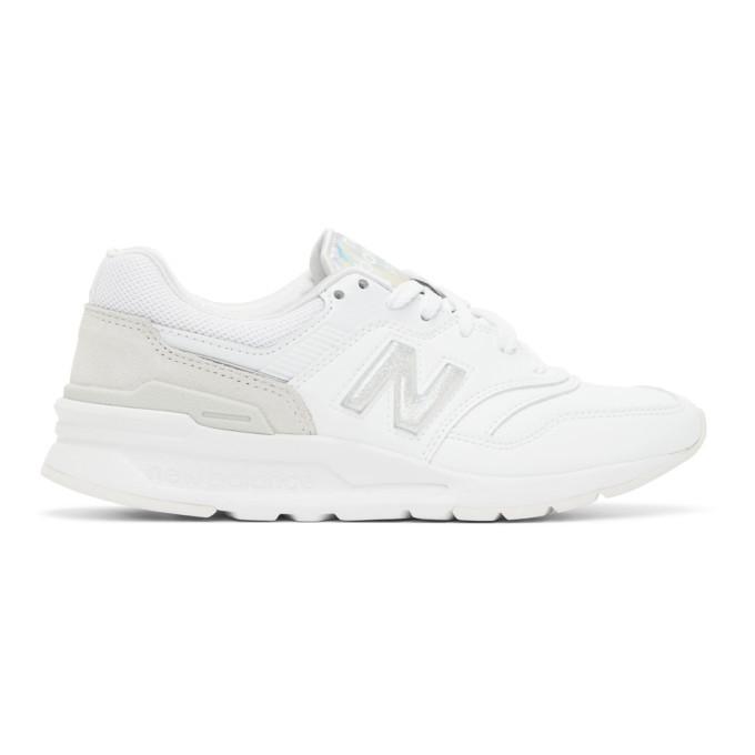 Photo: New Balance White Iridescent 997H Sneakers
