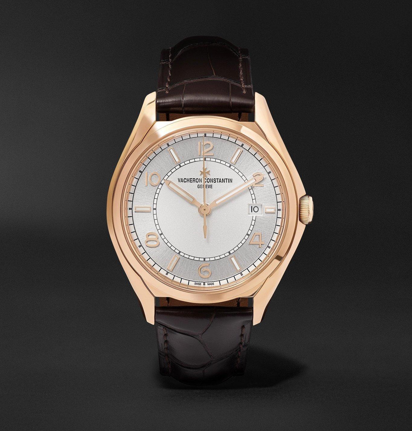Photo: Vacheron Constantin - Fiftysix Automatic 40mm 18-Karat Pink Gold and Alligator Watch, Ref. No. 4600E/000R-B441 X46R2019 - Unknown
