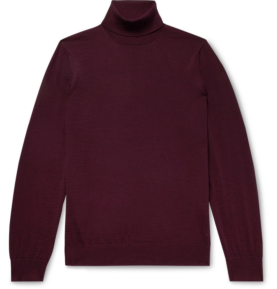 Dunhill - Slim-Fit Wool Rollneck Sweater - Men - Merlot