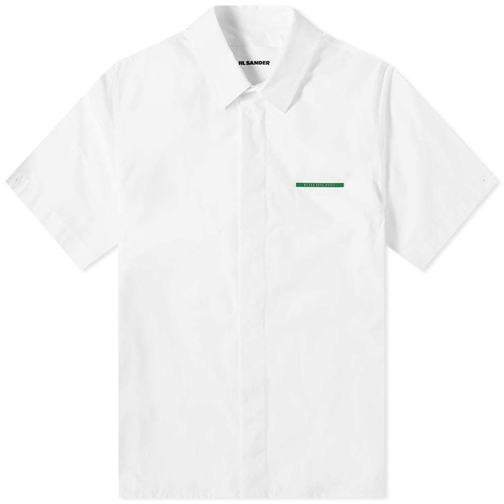 Photo: Jil Sander Short Sleeve Pocket Detail Stripe Shirt