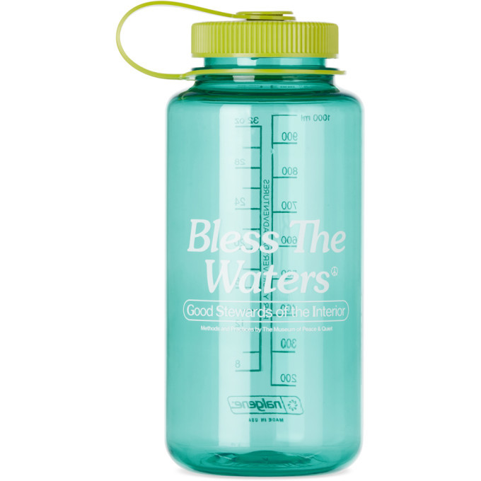Photo: Museum of Peace and Quiet Blue Nalgene Bless The Waters Bottle, 32 oz