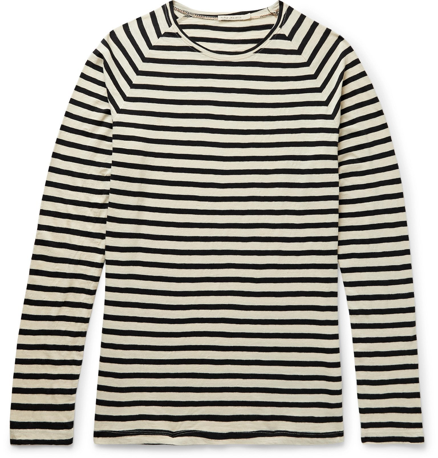 Photo: Nudie Jeans - Otto Striped Organic Cotton-Jersey T-Shirt - Neutrals