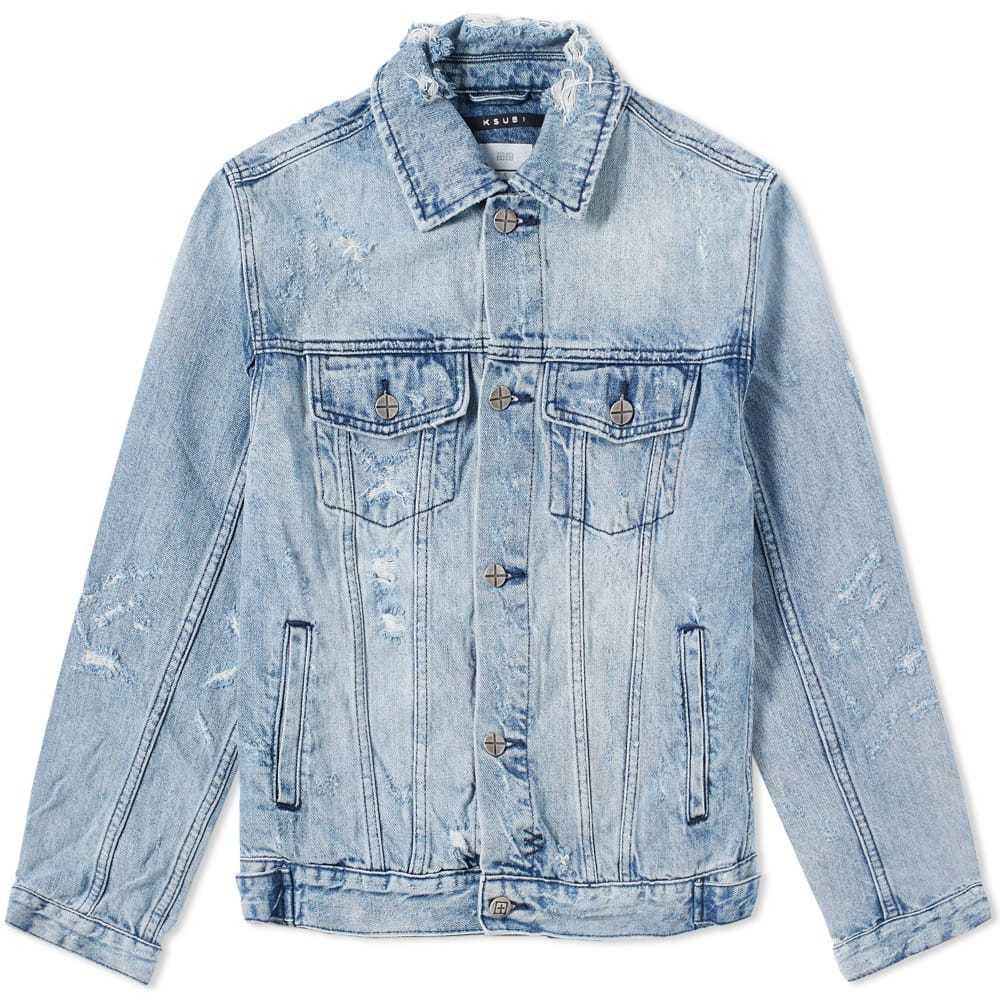 Ksubi Classic Smashed Jacket Blue