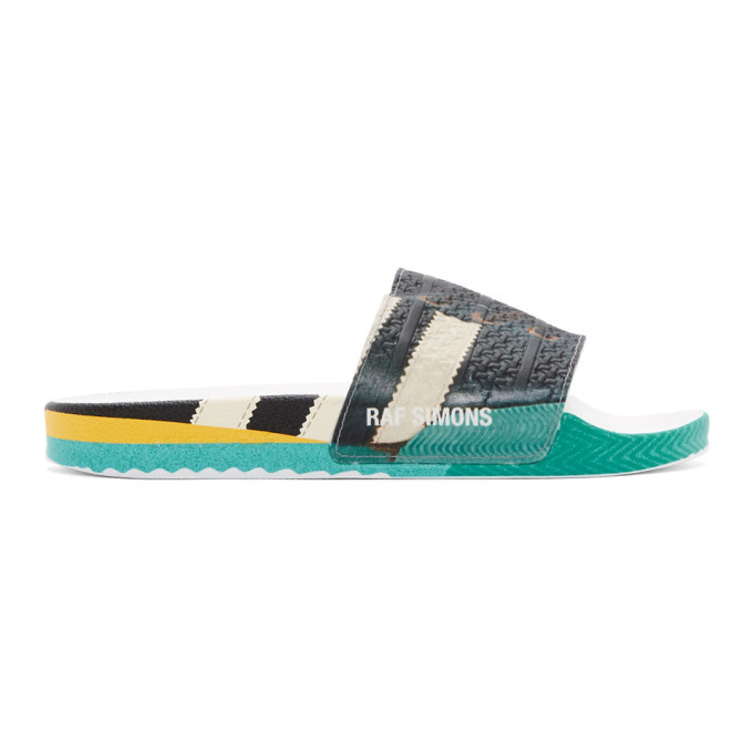 Photo: Raf Simons Black adidas Originals Edition Samba Adilette Slides