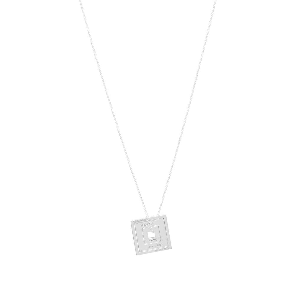 Photo: Le Gramme Square Accumulation Slick Pendant Necklace