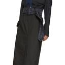 Sacai Black Cotton Skirt