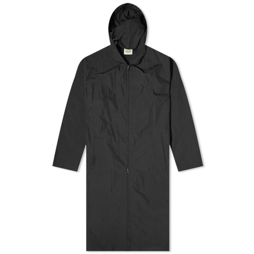 Photo: Fear of God Nylon Hooded Rain Jacket