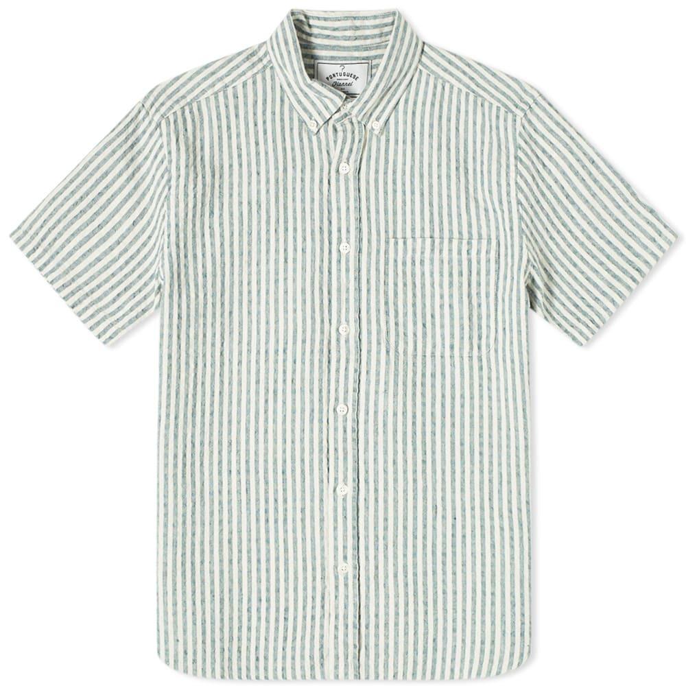 Photo: Portuguese Flannel Beach Cabin Button Down Short Sleeve Shirt