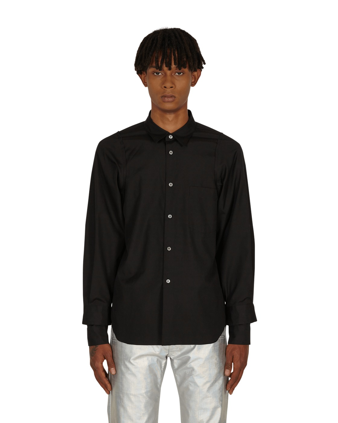 Photo: Comme Des Garcons Homme Plus Double Sleeve Detail Shirt Black