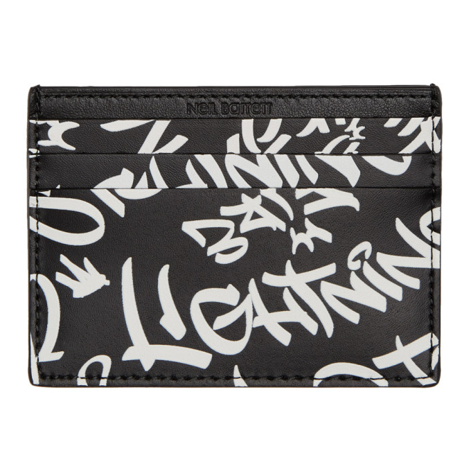 Photo: Neil Barrett Black Grafitti Card Holder