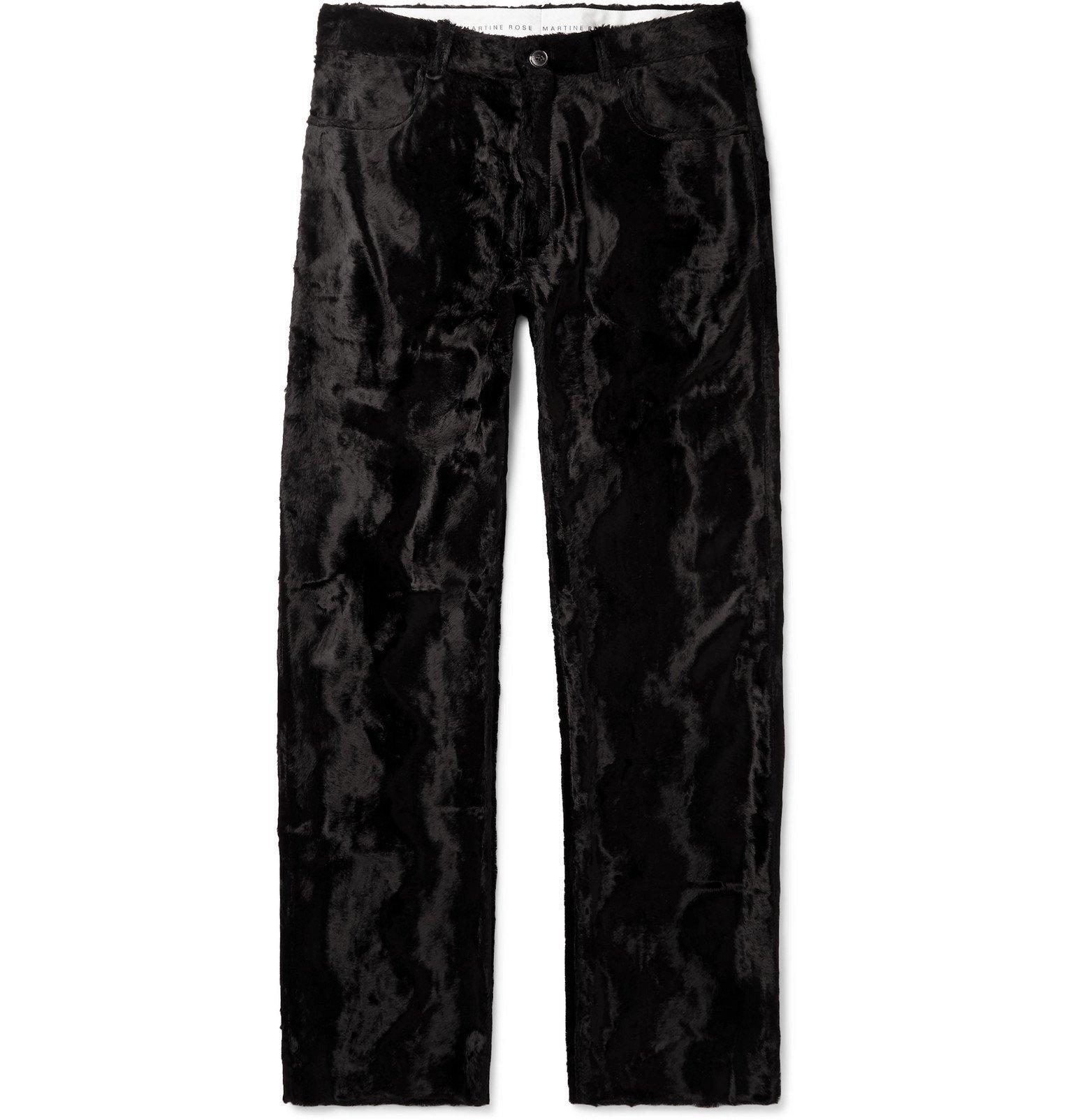 Martine Rose - Black Augustus Faux Fur Trousers - Black