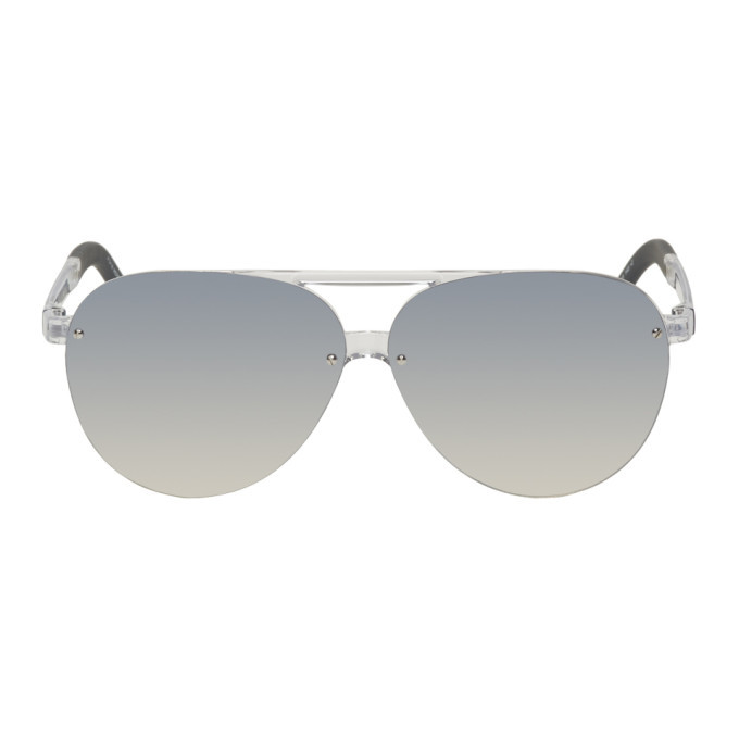 Photo: Moncler Silver ML 0063 Sunglasses