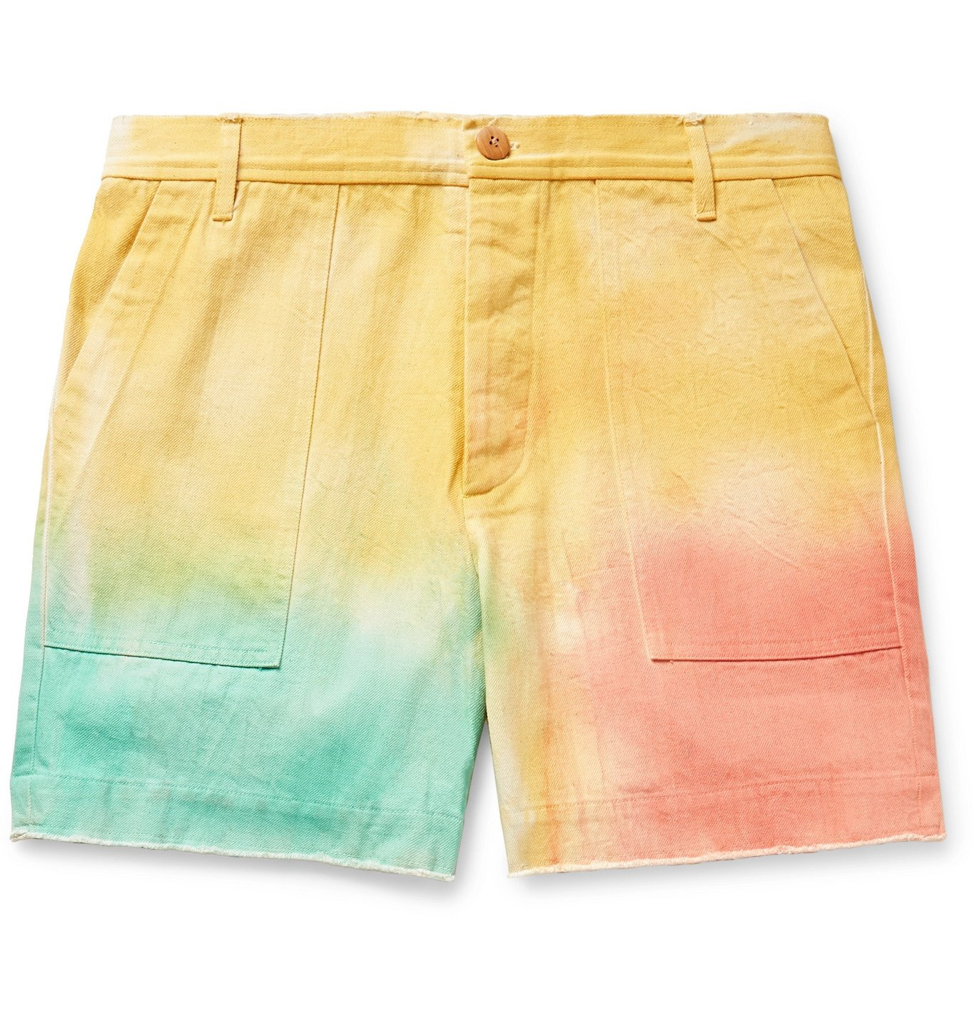Photo: The Elder Statesman - Tie-Dyed Cotton-Twill Shorts - Multi
