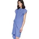 Nina Ricci Blue Draped Dress