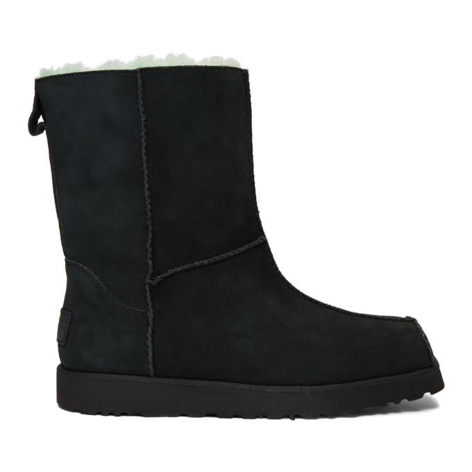 Photo: Eckhaus Latta Black and Green UGG Edition Block Boots