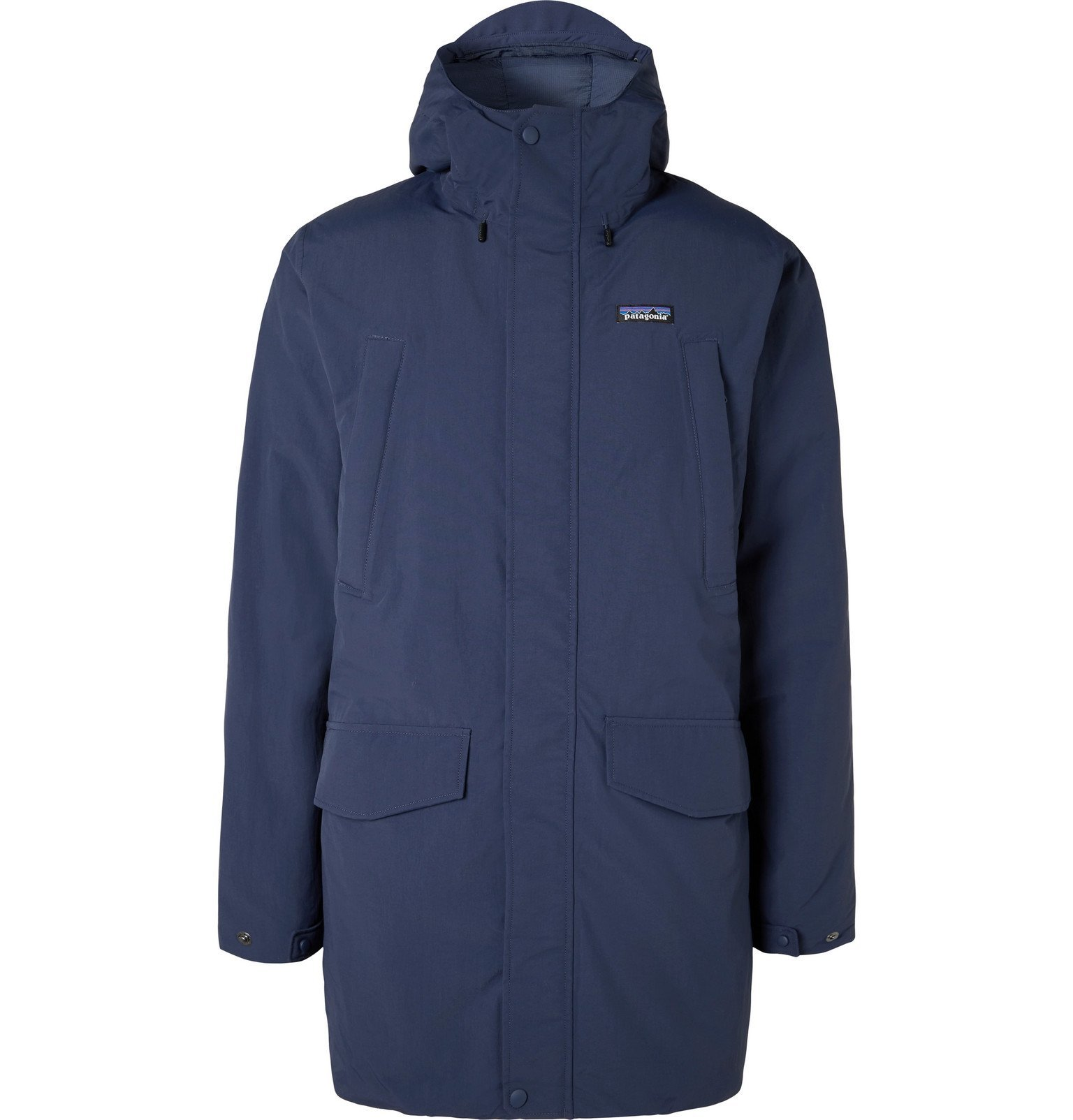 Photo: Patagonia - City Storm Shell Hooded Down Parka - Blue