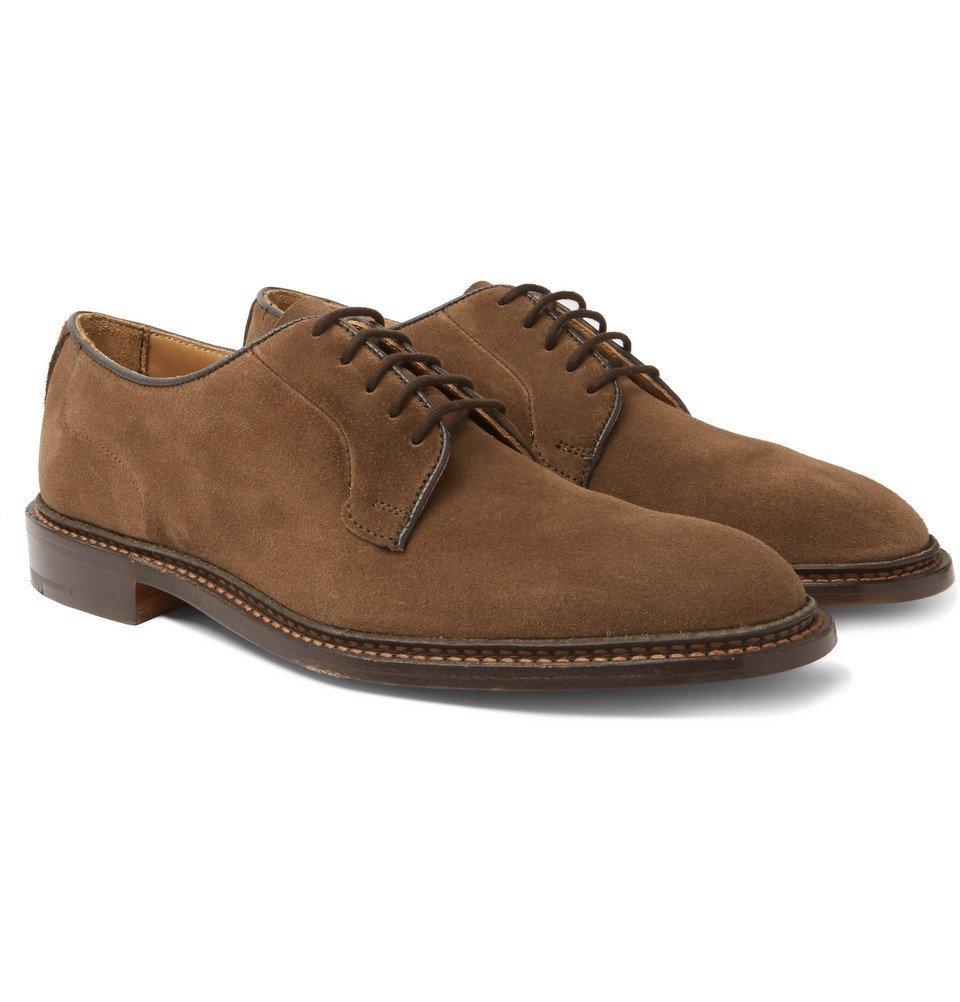 Photo: Tricker's - Robert Suede Derby Shoes - Men - Brown