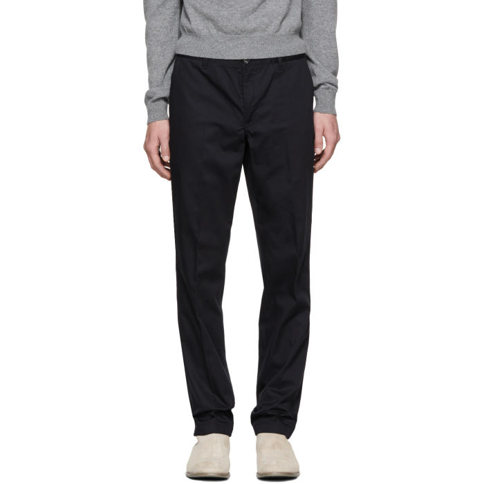 Photo: PS by Paul Smith Navy Slim Chinos
