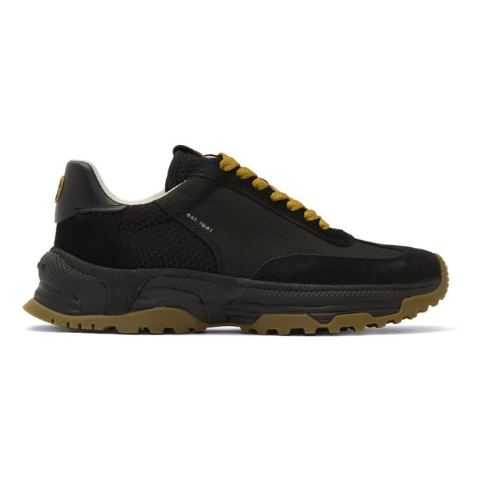 Photo: Coach 1941 Black C155 Panelled Runner Sneakers