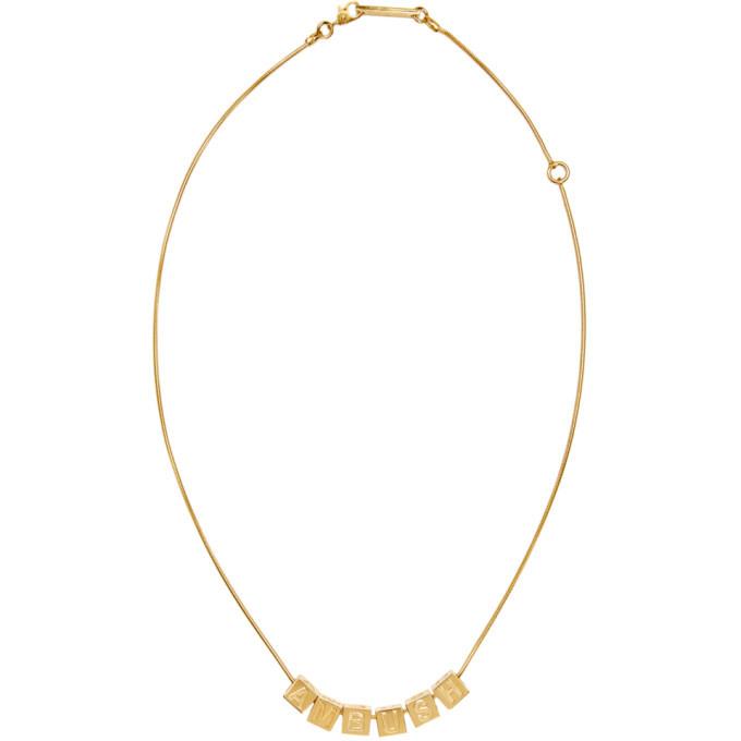 Photo: Ambush Gold Letter Block Charm Necklace