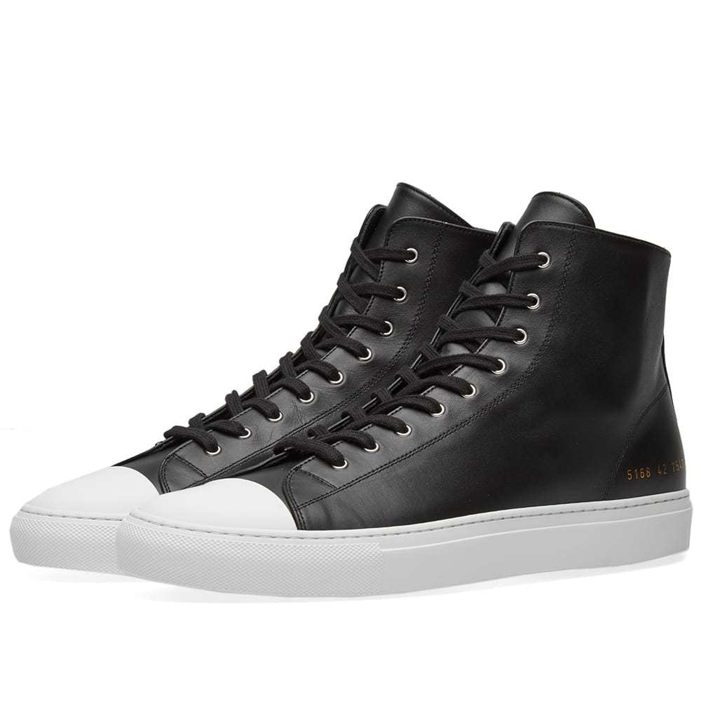 Photo: Common Projects Tournament Toe Cap High Black