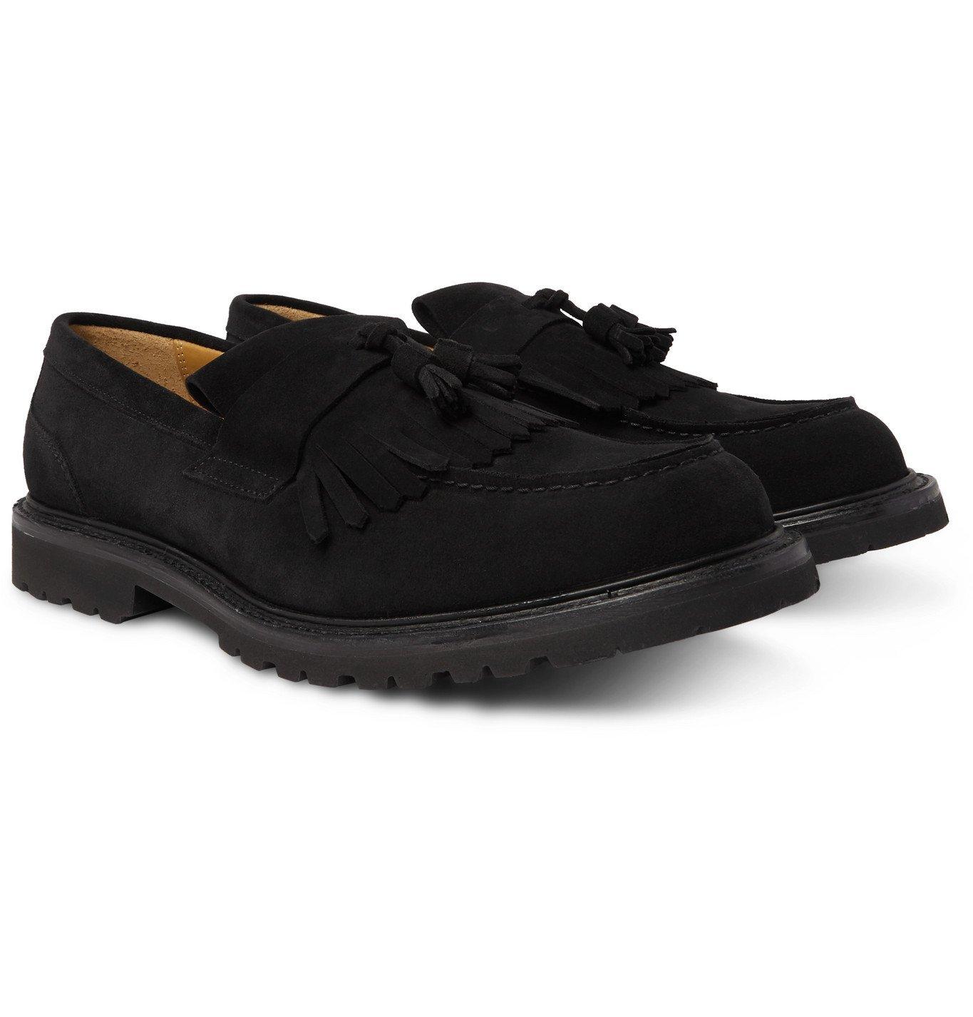 Photo: Mr P. - Heath Suede Tasselled Loafers - Black