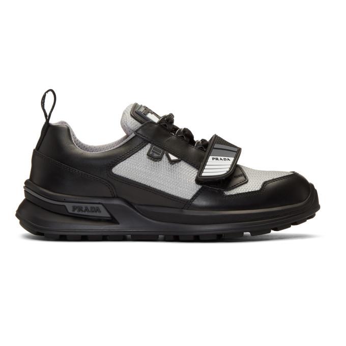 Photo: Prada Black and Silver Mechano Sneakers