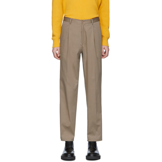 Photo: Etro Beige Relaxed Fit Trousers