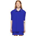 Nina Ricci Blue Bonded Jersey Short Sleeve Shirt
