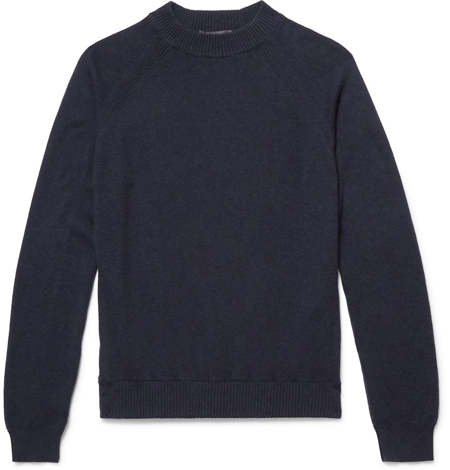 Photo: Loro Piana - Slim-Fit Baby Cashmere Sweater - Blue