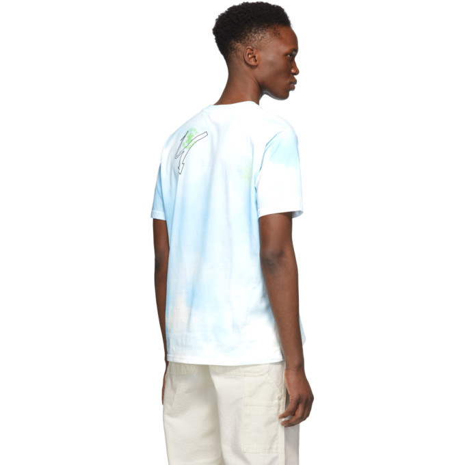 032c Blue Cosmic Workshop Tie-Dye T-Shirt