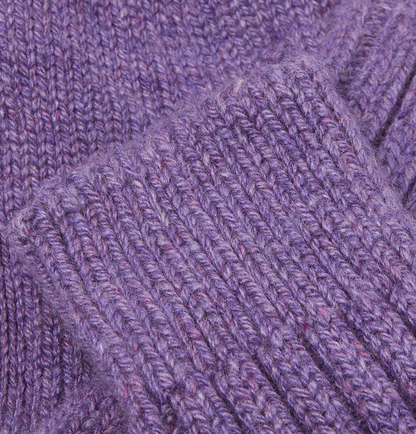 The Elder Statesman - Yosemite Mélange Cashmere Socks - Purple