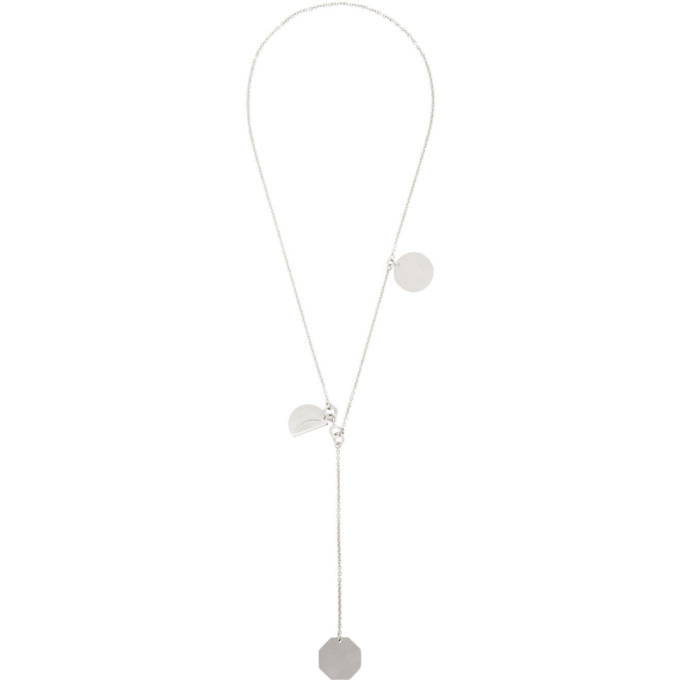 Photo: Jil Sander Silver Double Drop Necklace