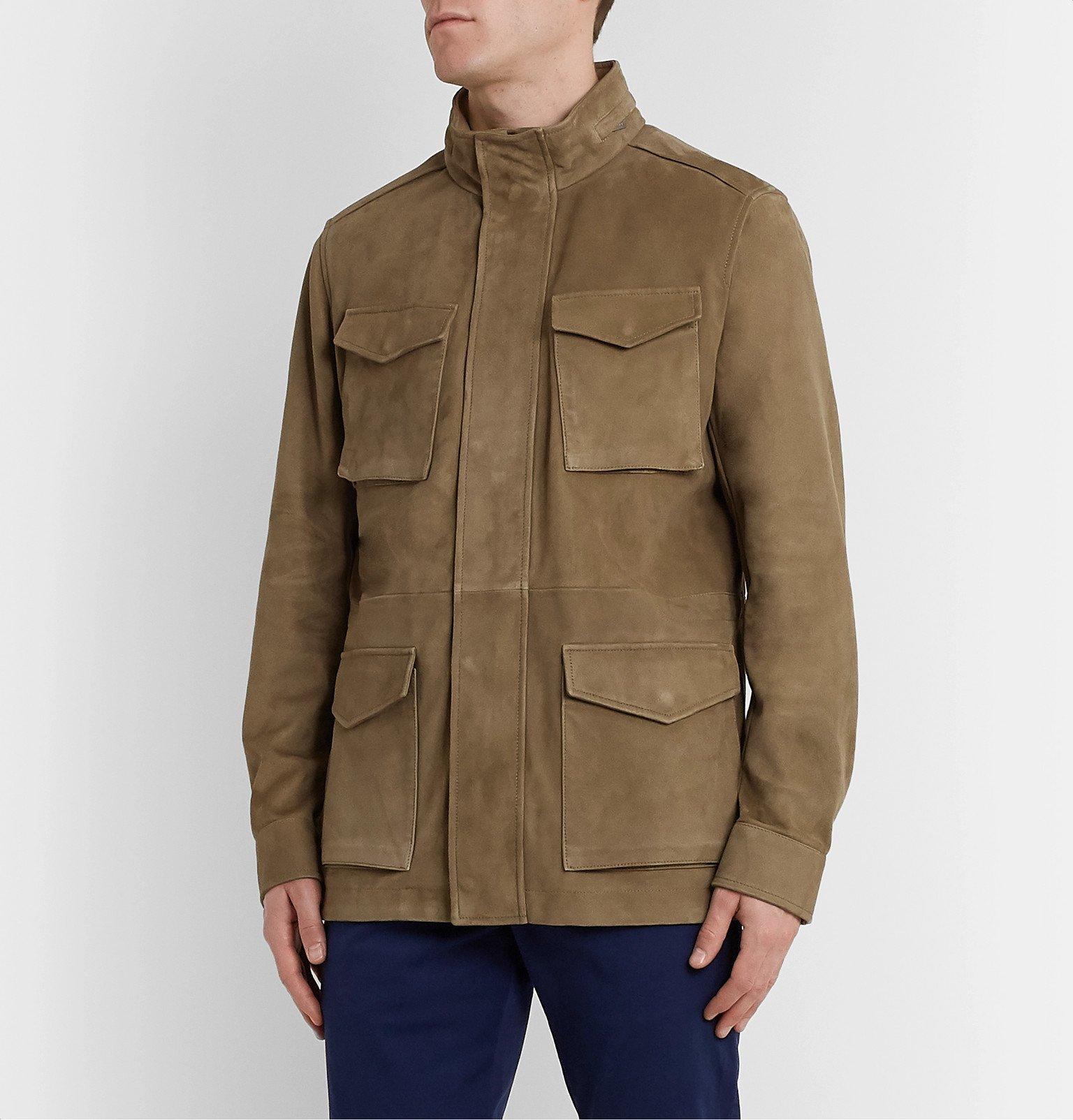 Tod's - Suede Field Jacket - Neutrals