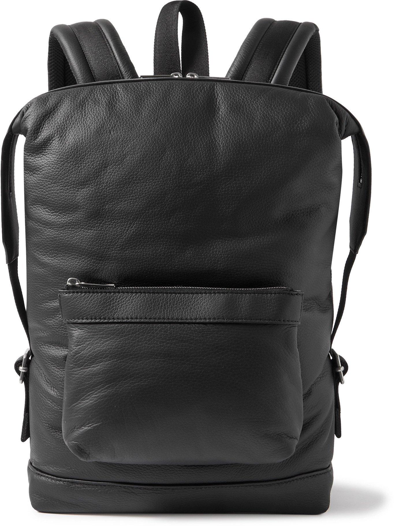 Photo: BOTTEGA VENETA - Full-Grain Leather Backpack - Black