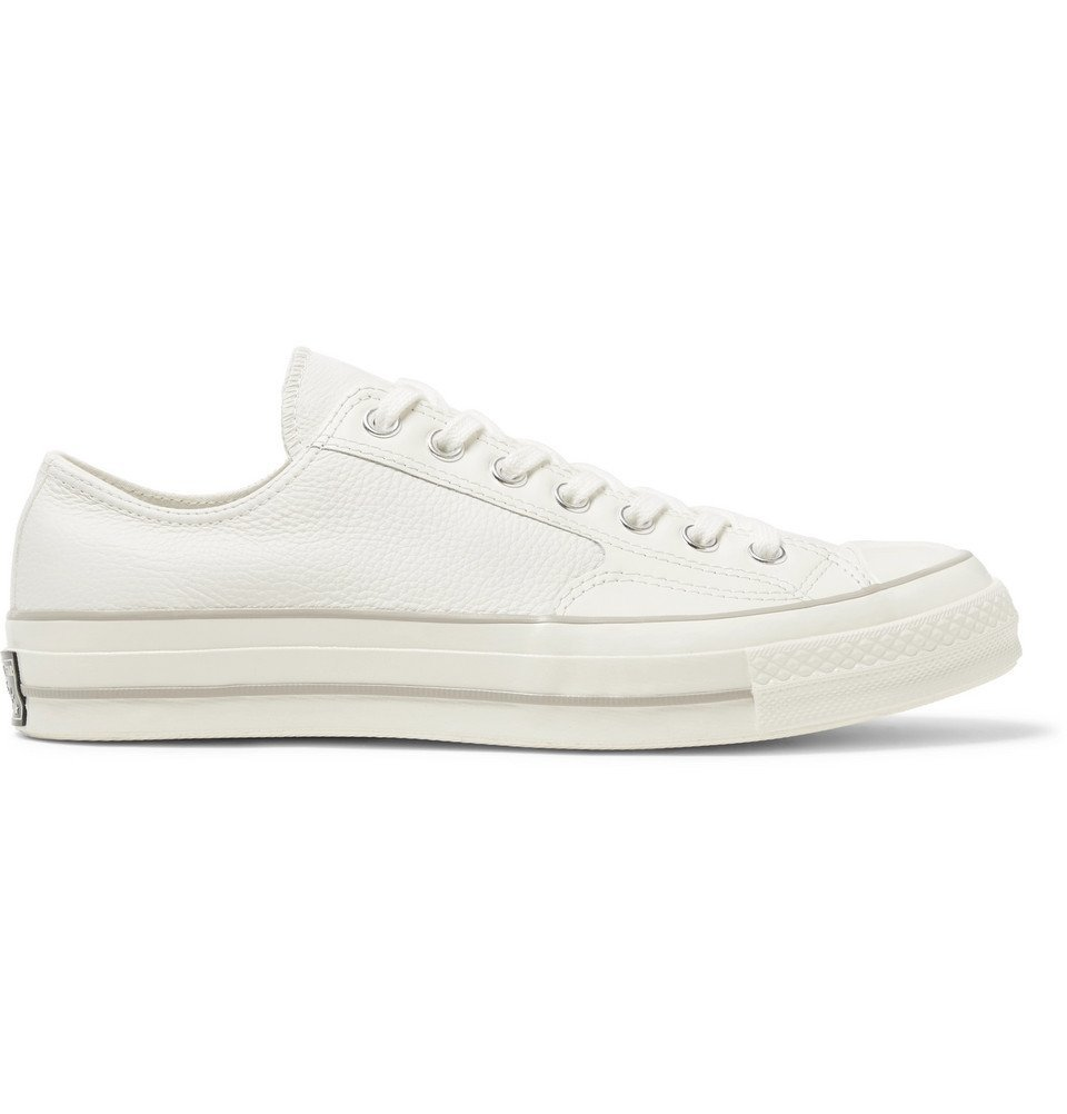 Photo: Converse - 1970s Chuck Taylor All Star Full-Grain Leather Sneakers - Off-white