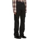 Raf Simons Black Uneven Knee Patch Jeans