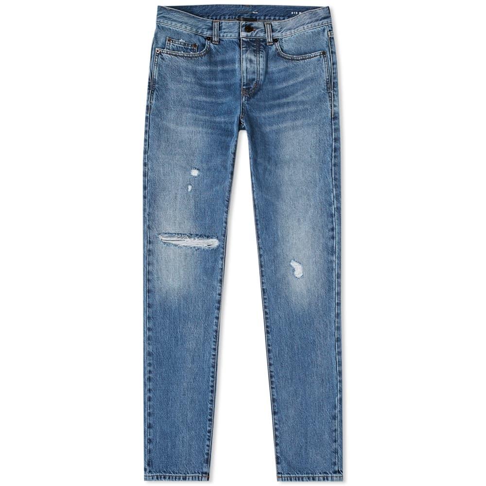 Photo: Saint Laurent Slim Fit Distressed Jean