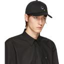 Raf Simons Black Embroidered Cap