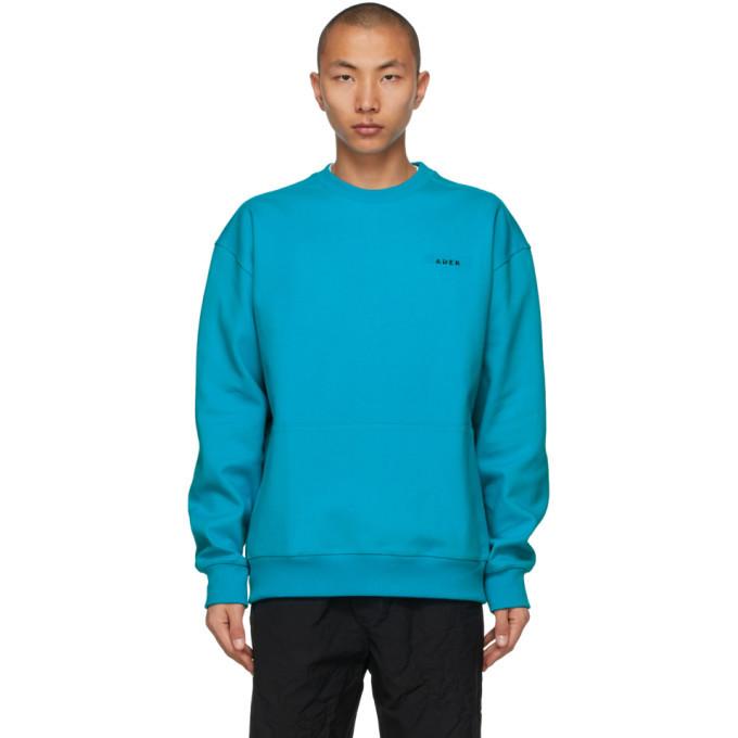 Photo: ADER error Blue Oversized Kangaroo Pocket Sweatshirt
