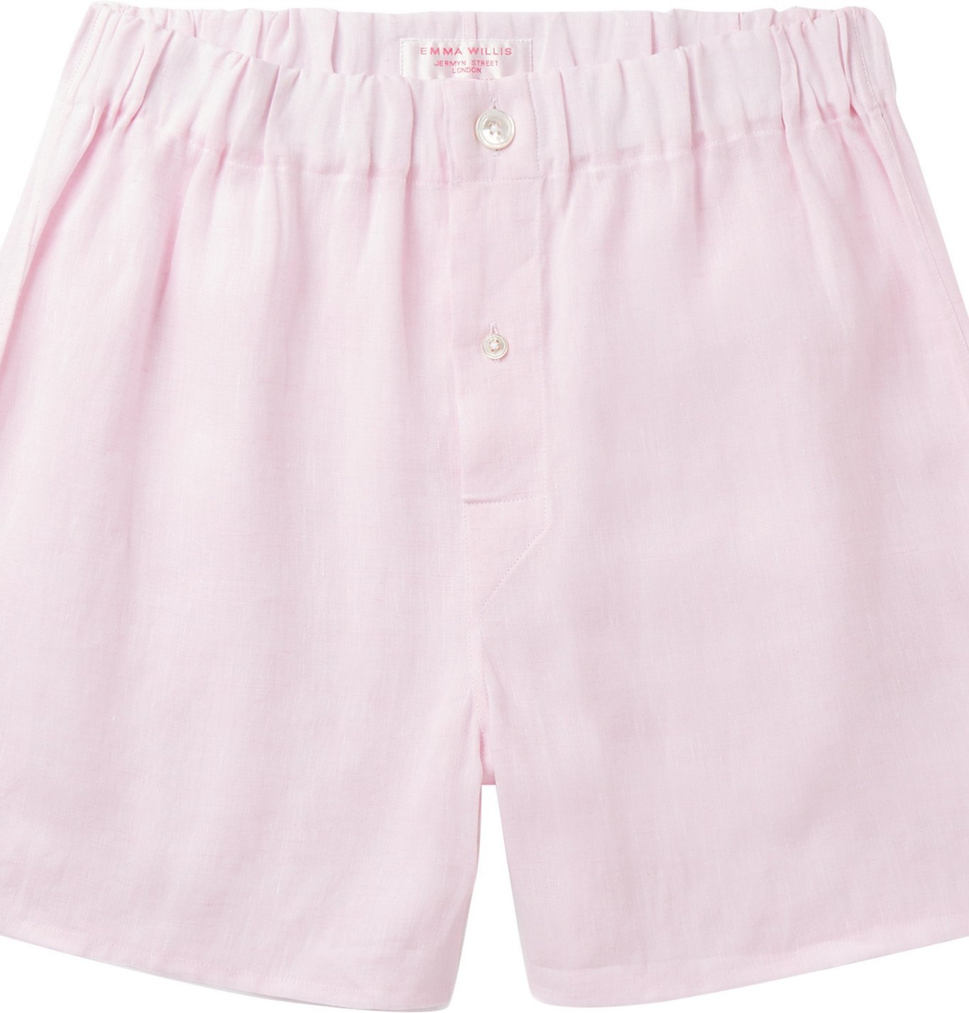 Photo: Emma Willis - Linen Boxer Shorts - Pink