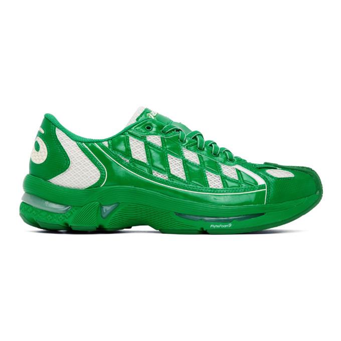Photo: Kiko Kostadinov Green and White Asics Edition Gel-Kiril Sneakers