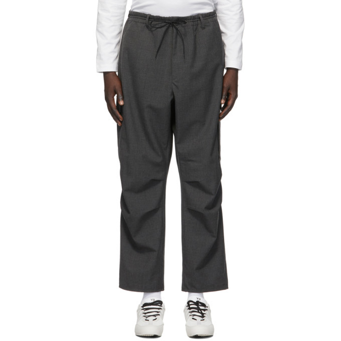Photo: Y-3 Grey Wool Winter Cargo Pants