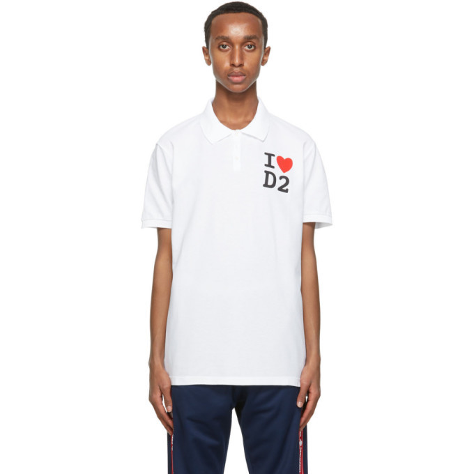 Photo: Dsquared2 White Tennis Fit Polo