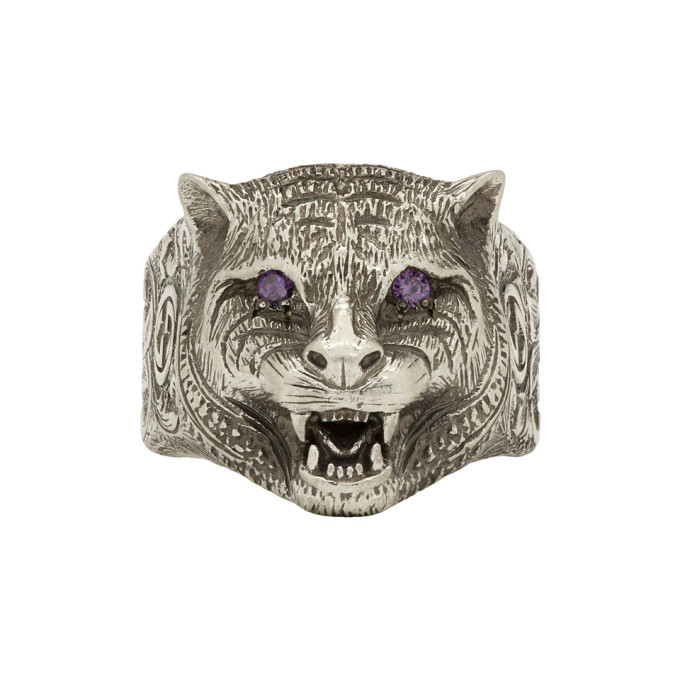 Photo: Gucci Silver Angry Cat Ring