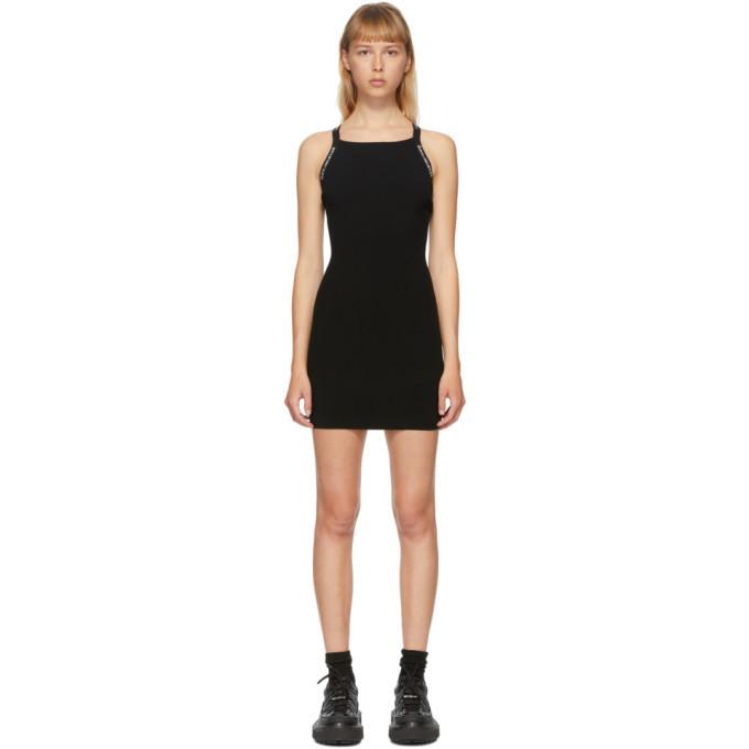 Photo: alexanderwang.t Black Logo Trim Bodycon Dress